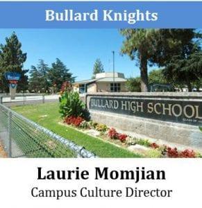 Bullard Knights - Laurie Momjian - Campus Culture Director