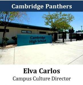 Cambridge Panthers - Elva Carlos - Campus Culture Director