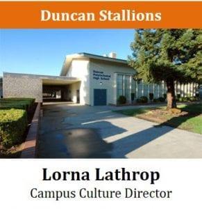Duncan Stallions - Lorna Lathrop - Campus Culture Director