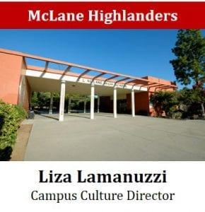 McLane Highlanders - Liza Lamanuzzi - Campus Culture Director