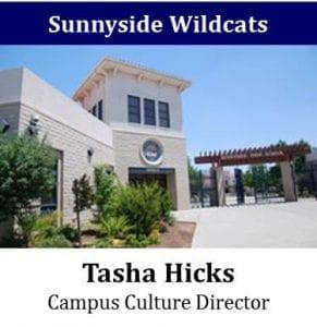 Sunnyside Wildcats - Tasha Hicks - Campus Culture Director